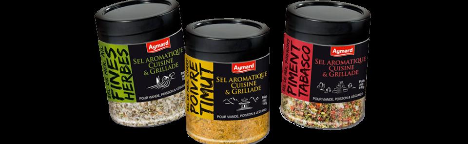 Donnez du goût à tous vos plats avec la gamme de sels aromatiques !