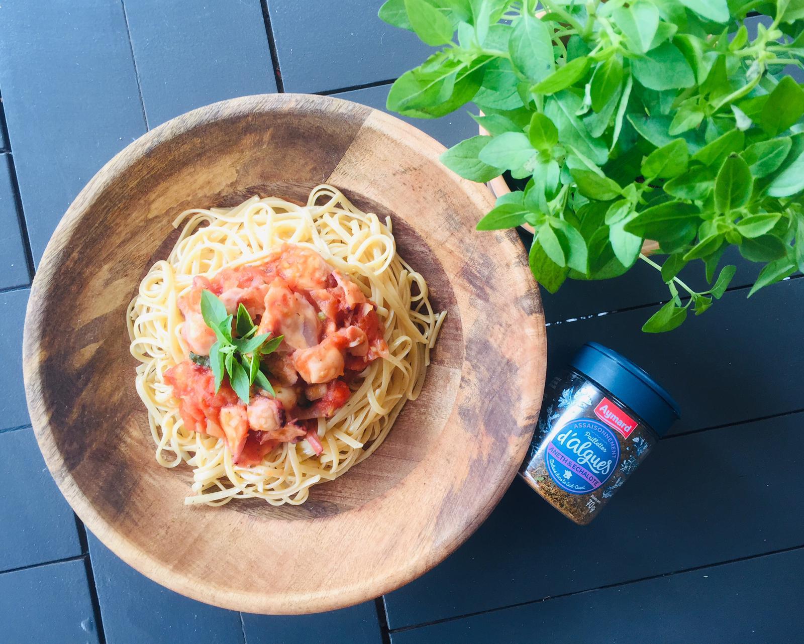 Spaghettis aux calamars