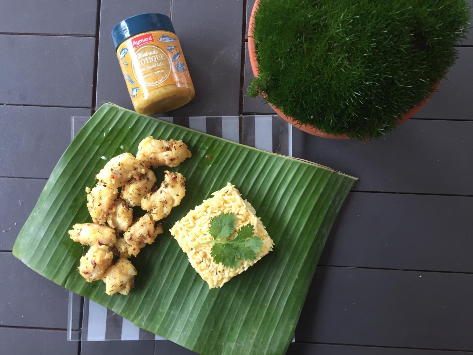 Filet de lieu jaune marinade sucré/salé